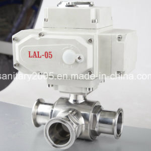 Ss316L Electric Triclamp 3 Piece Ball Valve for Food Beverage Industry