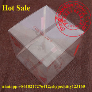 China Supply Transparent Clear Pet Plastic Box Ground for Gift Package