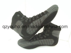 8b5d7898007c China Black High Top Gym Bodybuilding Boots MMA Boxing Weightlifting ...