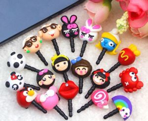 Various Cartoon Animal Cheap Cellphone Anti Dust Plug