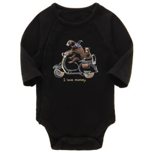Boys Printed Cute Bear Pattern Bamboo Fiber Baby Romper pictures & photos