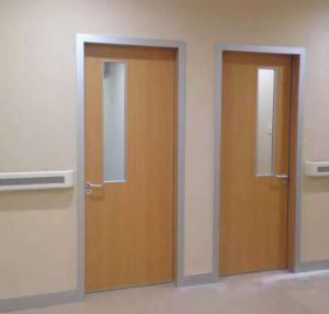 Interior Wooden Hospital Doors With Aluminum Frame