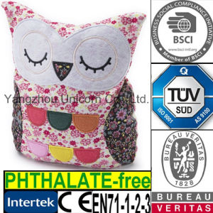 EN71 CE Kids Gift Soft Stuffed Animal Owl Fabric Plush Toy