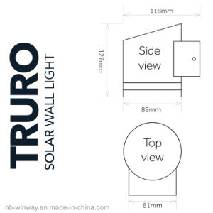 Stainless Steel Truro Solar Outdoor Motion Wall Light pictures & photos