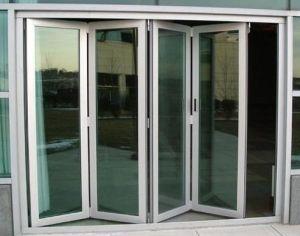 China Thermal Break Aluminum Patio Door Exterior Glazing Bi Folding ...