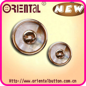 2 Holes Shell Button (S-280BL-S/PG)