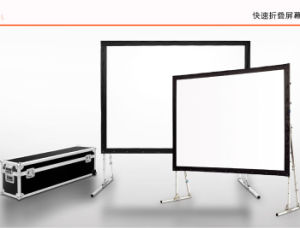 Portable Fast Folding Projection Screen pictures & photos