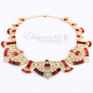 Fashion Big Zinc Alloy Antique Necklace with Fully Rhinestones Jewelry (MJ-SJ-63353)