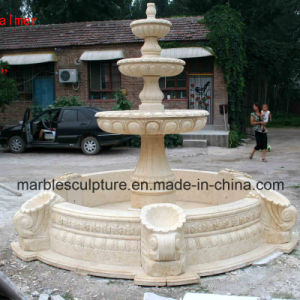Egypt Cream Marble Stone Sculpture Water Fountain (SY-F028) pictures & photos
