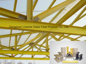 Fire Retardant Glass Fiber/Fiberglass Metarial, FRP Structural Shapes