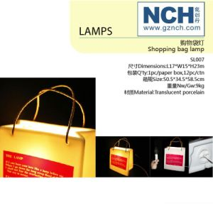 Ceramic Lamp Shopping Bag Desk Lamp Novelty Products