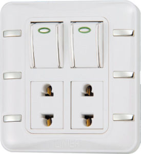 Ee-Hm-K08 2 Gang 16A Multi-Function Wall Switch pictures & photos