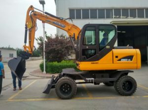 4WD Hydraulic Wheel Excavator, 4X4 Excavator for Sale pictures & photos