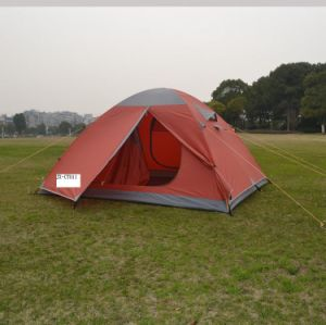 210t Double-Skin Polyester Camping Tent with Aluminium Pole for 4 Persons (JX-CT011) pictures & photos