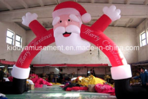 Infllatable Christmas Santa Arch Archway