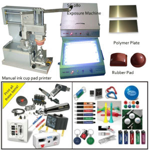 Top of Lenses Manual Pad Printing Machine for Single Color