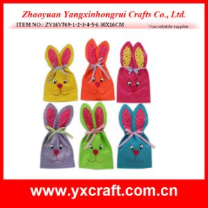 Easter Decoration (ZY16Y769-1-2-3-4-5-6) Easter Handicraft Long Ear Bunny Bag pictures & photos