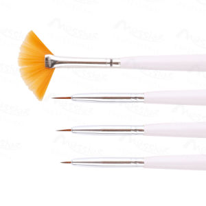 4 PCS Nail Art Tips UV Gel Acrylic DIY Dotting Painting Pen Brush Set Accessory