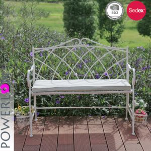 Pleasing White Folding Outdoor Garden Bench With Baskets Ncnpc Chair Design For Home Ncnpcorg