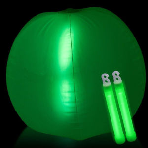 Promotion Red Color Inflatable Beach Ball with LED Bang Inside for Party pictures & photos
