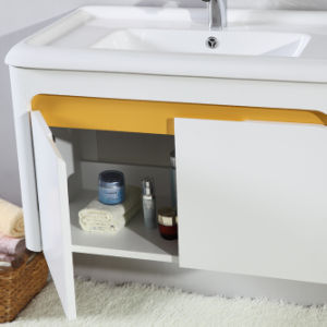 Matt White Paint Waterproof Plywood Bathroom Cabinet Furniture pictures & photos