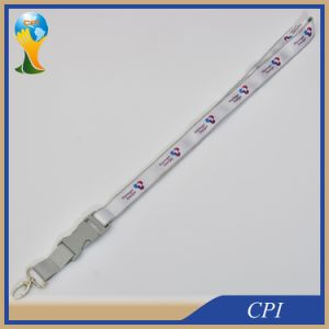 Custom Logo Satin Lanyards with Plastic Buckle