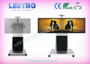 China Rolling Flat Panel Tv Plasma Stand L880t With Storage Cabinet
