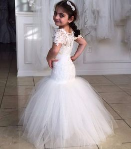 7a49363451b China Mermaid Puffy Bridal Flower Girl Dresses Communion Dresses ...