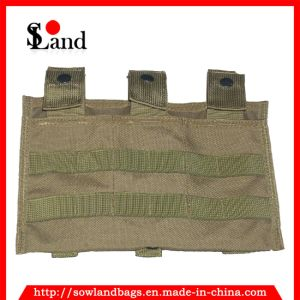 Brown Tactical Pistol Triple Mag Pouch