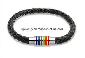 Braided Jewelry Black Leather Braided Bracelet pictures & photos