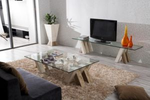 Marble Stone With Tempered Glass Coffee Table (D8821#)