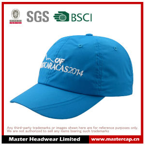 Custom Design Blue Sports Cap in Nylon From Hat Manufacturer