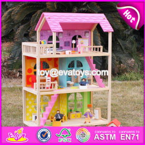 Wholesale 3 Layers Wooden American Girl Doll House Pretend Play Wooden American Girl Doll House for Sale W06A170 pictures & photos
