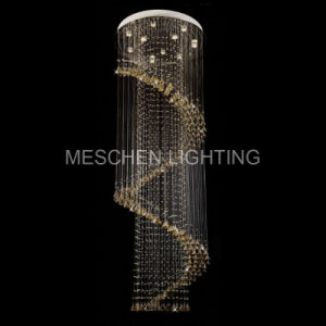 China luxury drop chandeliers spiral design stair lights hotel luxury drop chandeliers spiral design stair lights hotel cottage aloadofball Choice Image