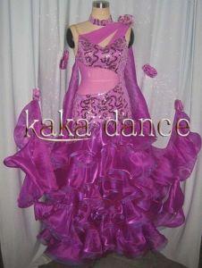 China Purple Colour Ballroom Dance Dress Kaka B030 China