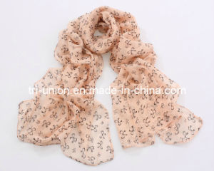 New Arrival Woman Print Artificial Silk Scarves