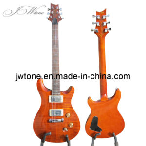Amber Color Quality Set in Neck Electric Guitar