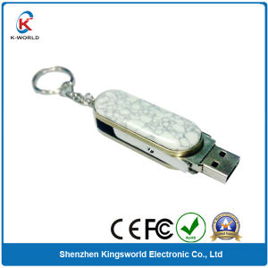 Swivel Shell USB Flash Drive with Keyring
