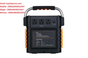 Portable Power Station S500, 529wh Backup Lithium Battery, 110V/220V 500W Pure Sine Wave AC Outlet, Solar Generator (Solar Panel Optional) for Outdoors