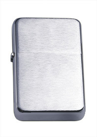 Metal Wholesale Chrome Brushed Oil Lighter Frome China (XF9000B)