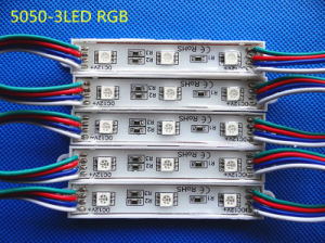 SMD 5050 3LEDs RGB Waterproof Light LED Module pictures & photos