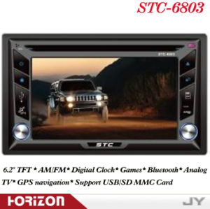Car Double DIN DVD Player Stc-6803 Car Stereo and DVD Players, Bluetooth, Games