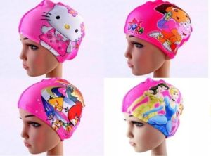 Girls Kids Lycra Swimming Cap Hat Swim Bathing Cap pictures & photos