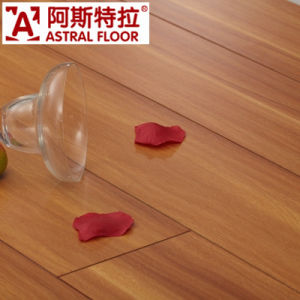 Popular Silk Surface (V-Groove) Laminate Wood Flooring pictures & photos