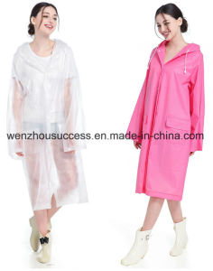 Adult Non-Disposable PVC Rain Poncho pictures & photos