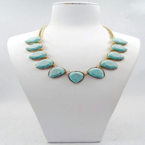 Oval Resin Stones Fashion Necklace