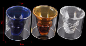 Doomed Crystal Double Wall Skull Glass, Skull Glass Mug