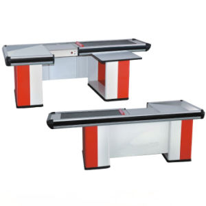 Stainless Steel Table Surface Supermarket Electric Cash Counter From Factory pictures & photos