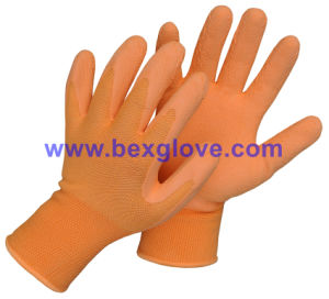 13 Gauge Nylon Liner, Latex Coating, Foam Finish Glove pictures & photos