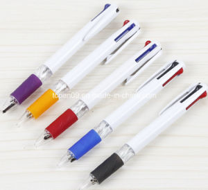 Muti-Functional Tricolor Promotion Plastic Pen with Logo